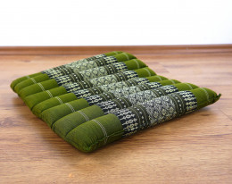 Kapok Quilted Seat Cushion, Size M, green