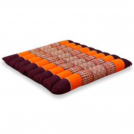 Kapok Quilted Seat Cushion, Size M, orange