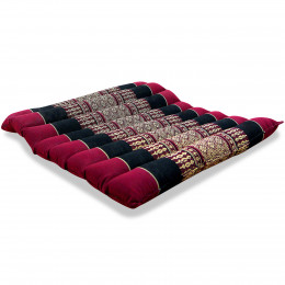 Kapok Quilted Seat Cushion, Size M, red / black
