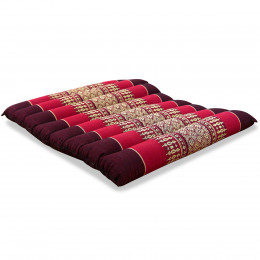 Kapok Quilted Seat Cushion, Size M, ruby-red