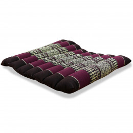 Kapok Quilted Seat Cushion, Size M, bordeaux