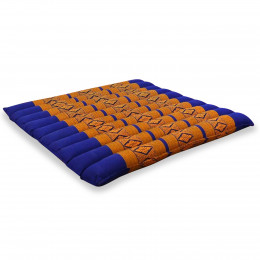Kapok Quilted Seat Cushion, Size L, blue / yellow