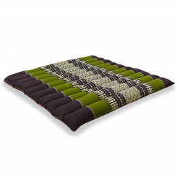 Kapok Quilted Seat Cushion, Size L, brown / green