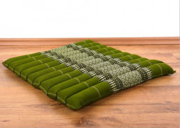 Kapok Quilted Seat Cushion, Size L,  green