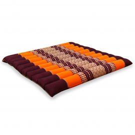 Kapok Quilted Seat Cushion, Size L, orange