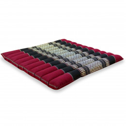 Kapok Quilted Seat Cushion, Size L, red / black