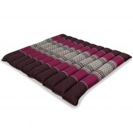 Kapok Quilted Seat Cushion, Size L,  bordeaux
