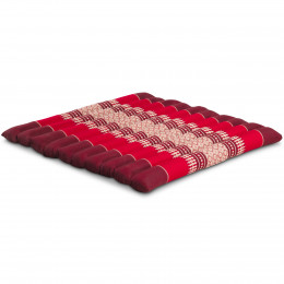 Kapok Quilted Seat Cushion, Size L,  ruby-red
