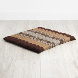 Kapok Quilted Seat Cushion, Size L, brown