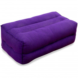 Block pillow (monochrome) purple