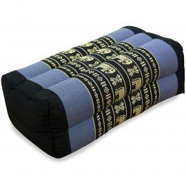 Block pillow, blue / elephants