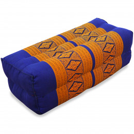 Block pillow, blue / yellow