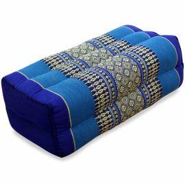 Block pillow, blue