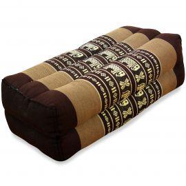 Block pillow, brown / elephants