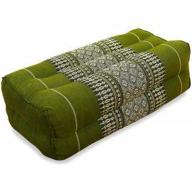 Block pillow, green