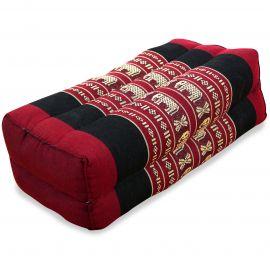 Block pillow, red / elephants