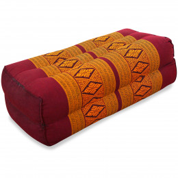 Block pillow, red / yellow