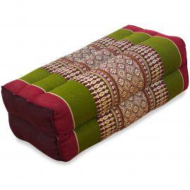 Block pillow, red / green