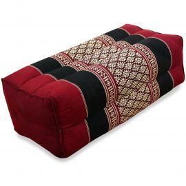 Block pillow, red / black
