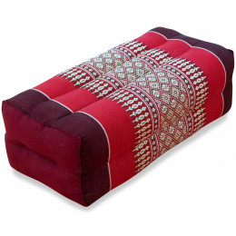 Block pillow, ruby-red