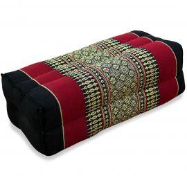 Block pillow, black / red
