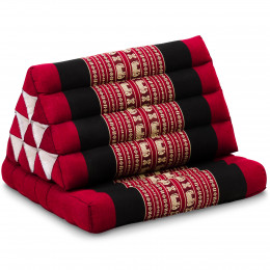 Thai Cushion 1 Fold, red elephants