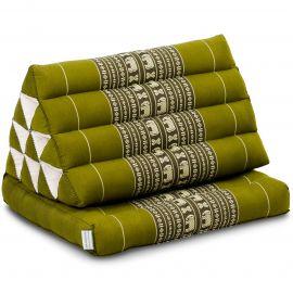 Thai Cushion 1 Fold, green elephants