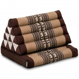 Thai Cushion 1 Fold, brown elephants