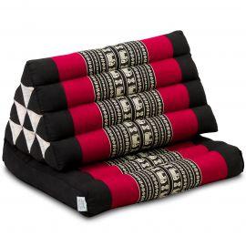 Thai Cushion 1 Fold, black elephants