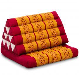 Thai Cushion 1 Fold, red / yellow