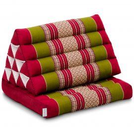 Thai Cushion 1 Fold, red / green