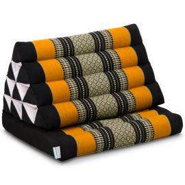 Thai Cushion 1 Fold, black / orange