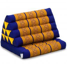 Thai Cushion 1 Fold, blue / yellow