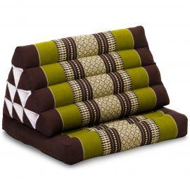 Thai Cushion 1 Fold, brown / green