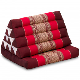 Thai Cushion 1 Fold, ruby-red