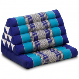 Thai Cushion 1 Fold, blue