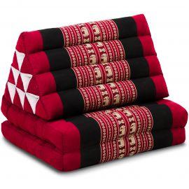 Thai Cushion 2 Fold, red elephants
