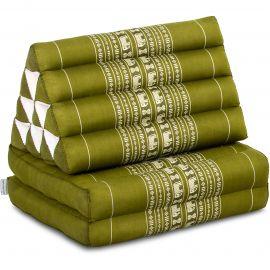 Thai Cushion 2 Fold, green elephants