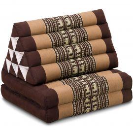 Thai Cushion 2 Fold, brown elephants