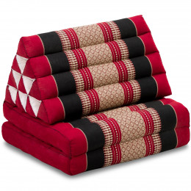 Thai Cushion 2 Fold, red / black