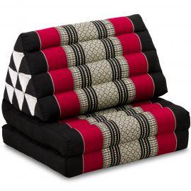 Thai Cushion 2 Fold, black / red