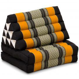 Thai Cushion 2 Fold, black / orange