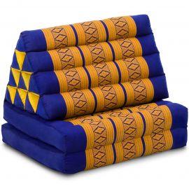 Thai Cushion 2 Fold, blue / yellow
