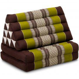 Thai Cushion 2 Fold, brown / green