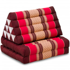 Thai Cushion 2 Fold, ruby-red
