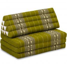 Thai Cushion XXL-Width, green elephants