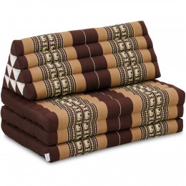 Thai Cushion XXL-Width, brown elephants