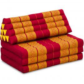 Thai Cushion XXL-Width, red / yellow