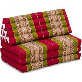 Thai Cushion XXL-Width, red / green