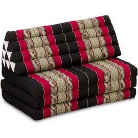Thai Cushion XXL-Width, black / red